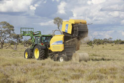 Baling native Mitchell grass when there is an abundance of feed.